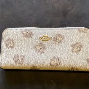 Gently used large Coach wallet